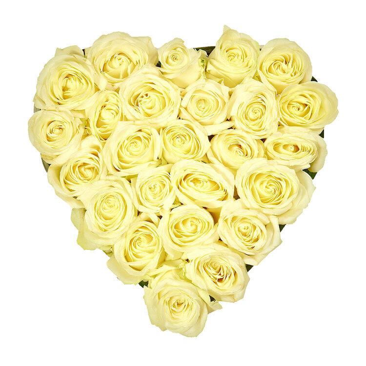 Магазин цветов Фурор Композиция «Белое сердце» - фото 1
