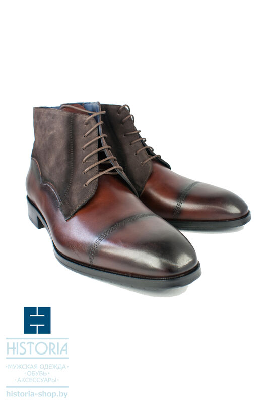 Обувь мужская HISTORIA Ботинки мужские, из комбинированной кожи - фото 1