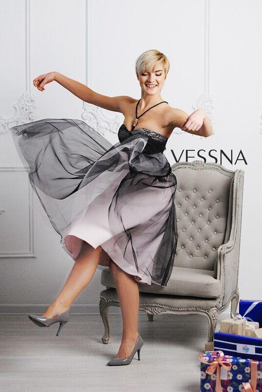 Вечернее платье Vessna Коктейльное платье арт.1201 из коллекции VESSNA Party - фото 1