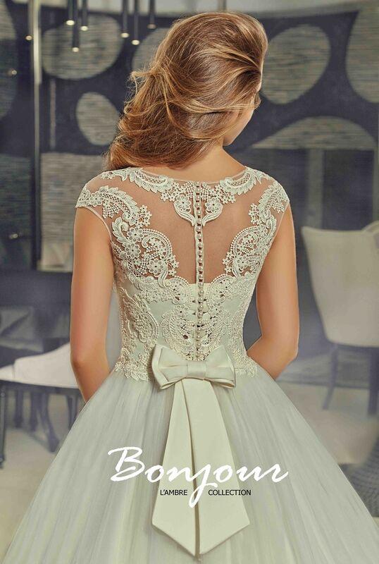 Свадебное платье напрокат Bonjour Платье свадебное «Nora» из коллекции LAMBRE 2017 - фото 3