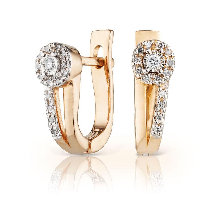 Ювелирный салон Jeweller Karat Серьги золотые с бриллиантами арт. 3223067/9 - фото 1