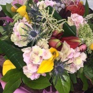 Магазин цветов Прекрасная садовница Букет с эрингиумом - фото 1