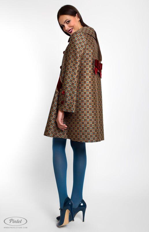 Верхняя одежда женская Pintel™ Двубортное пальто А-силуэта  Akinö - фото 4