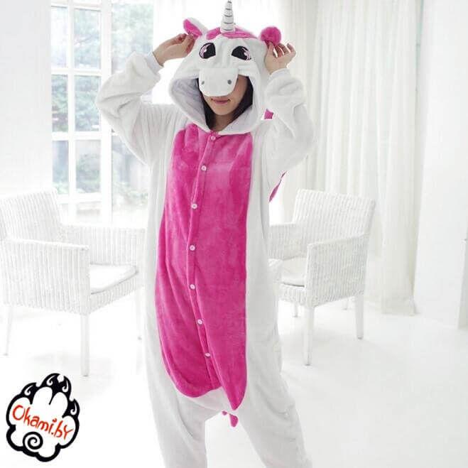 Подарок Taicang Soft Пижама кигуруми «Розовый единорог» - фото 2