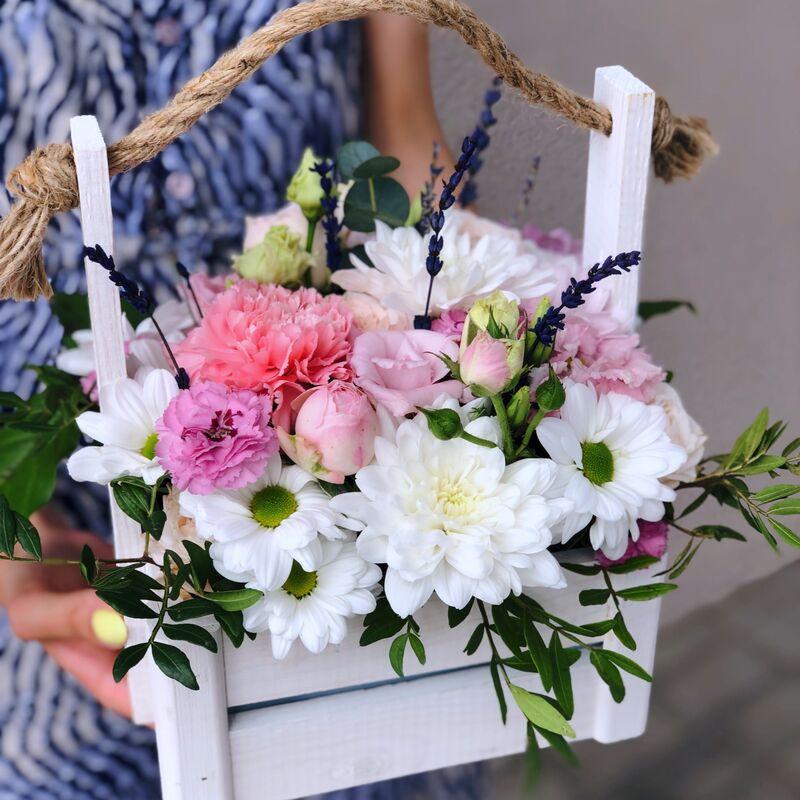 Магазин цветов Кошык кветак Ящик классический - фото 1