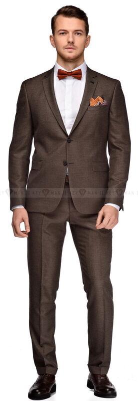 Костюм мужской Keyman Костюм мужской бежево-коричневый фактурный - фото 1