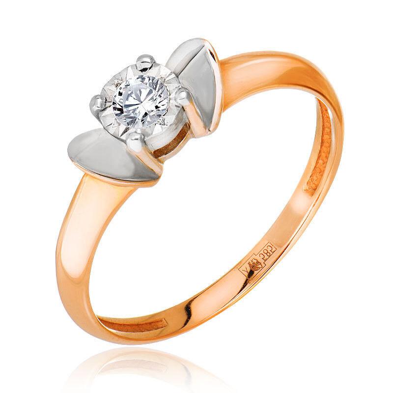 Ювелирный салон Jeweller Karat Кольцо золотое с бриллиантами арт. 3212511/93 - фото 1