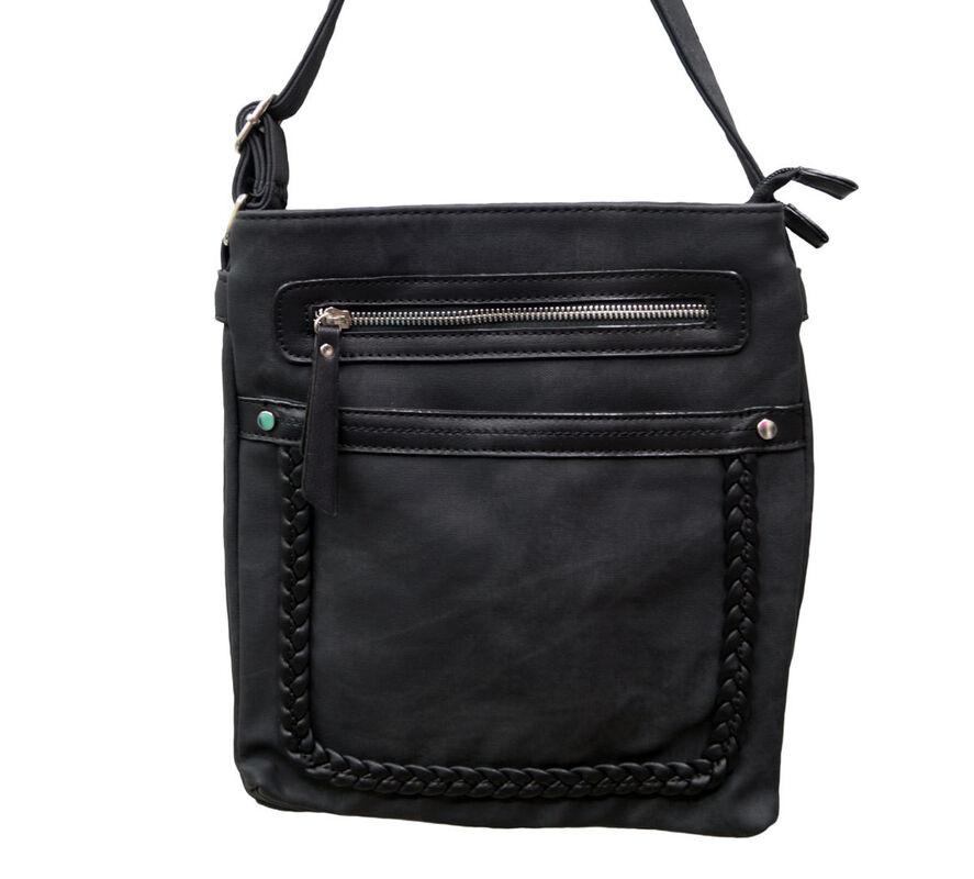 Магазин сумок Rozan Планшет женский черный 11125 - фото 1