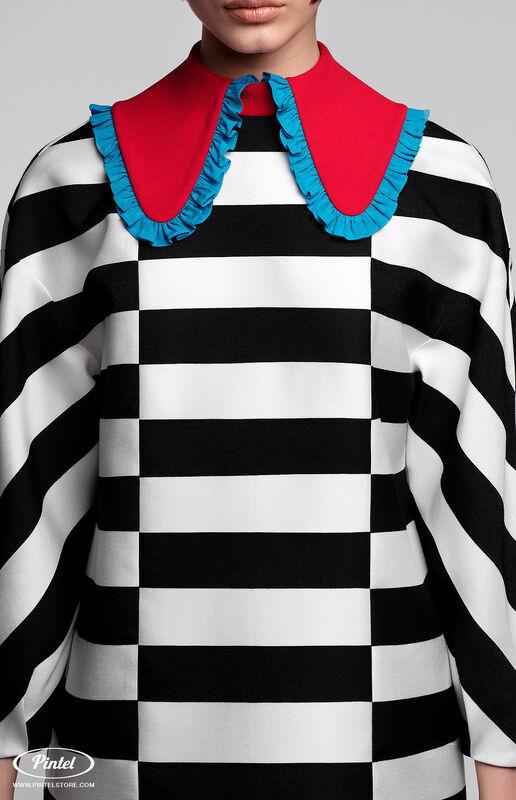 Платье женское Pintel™ Контрастное оп-арт мини-платье свободного силуэта Davia - фото 4