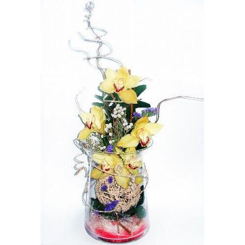 Магазин цветов Планета цветов Цветочная композиция в стекле №2 - фото 1
