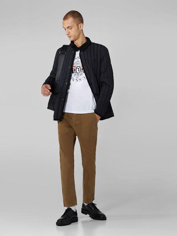 Кофта, рубашка, футболка мужская Trussardi Футболка мужская 52T00388-1T003076 - фото 3