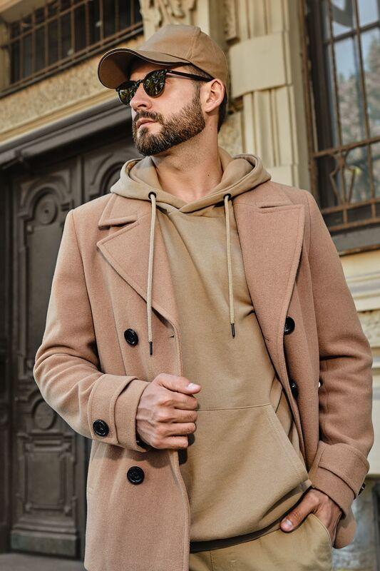 Верхняя одежда мужская Etelier Пальто мужское демисезонное 1М-9598-1 - фото 6