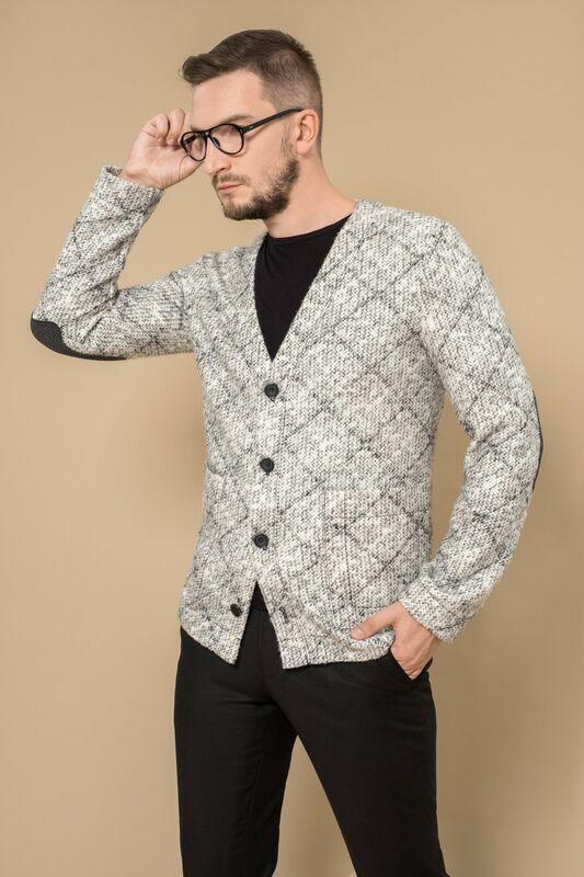 Кофта, рубашка, футболка мужская Etelier Кардиган мужской 8М-8521-1 - фото 1