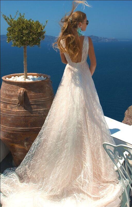 Свадебное платье напрокат Rafineza Свадебное платье Sandra Santorini напрокат - фото 3