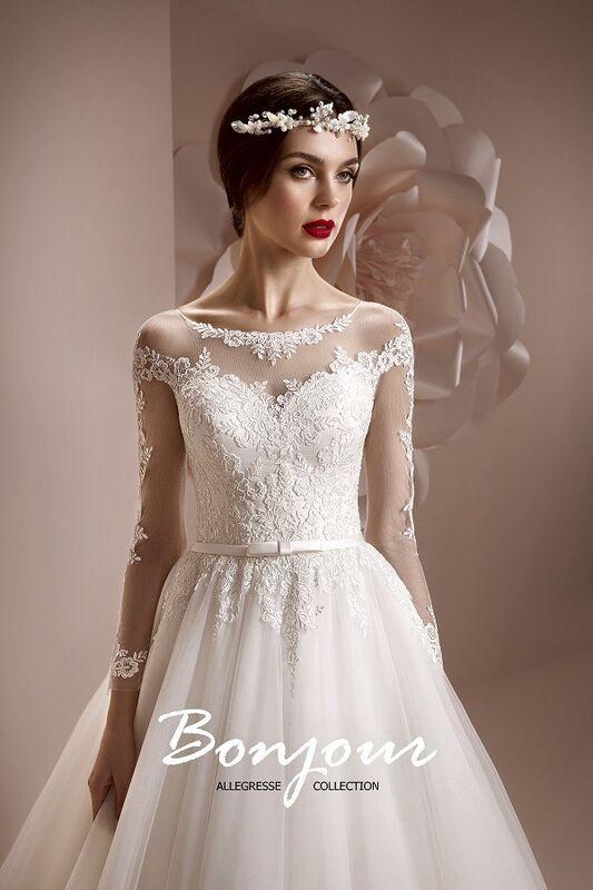 Свадебное платье напрокат Bonjour Платье свадебное «Perla» из коллекции ALLEGRESSE 2017 - фото 1