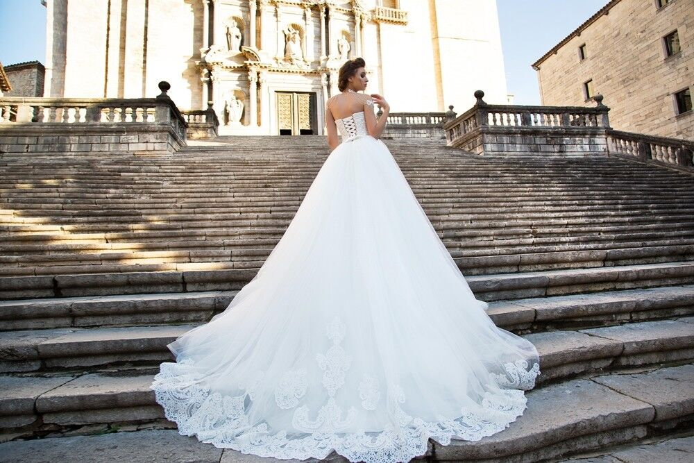 Свадебное платье напрокат Bonjour Платье свадебное «Dolores» из коллекции LA SENSUALITE 2017 - фото 3