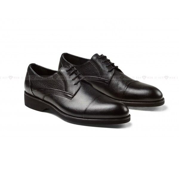 Обувь мужская Keyman Туфли мужские черные с подрезами на сплошной подошве - фото 1