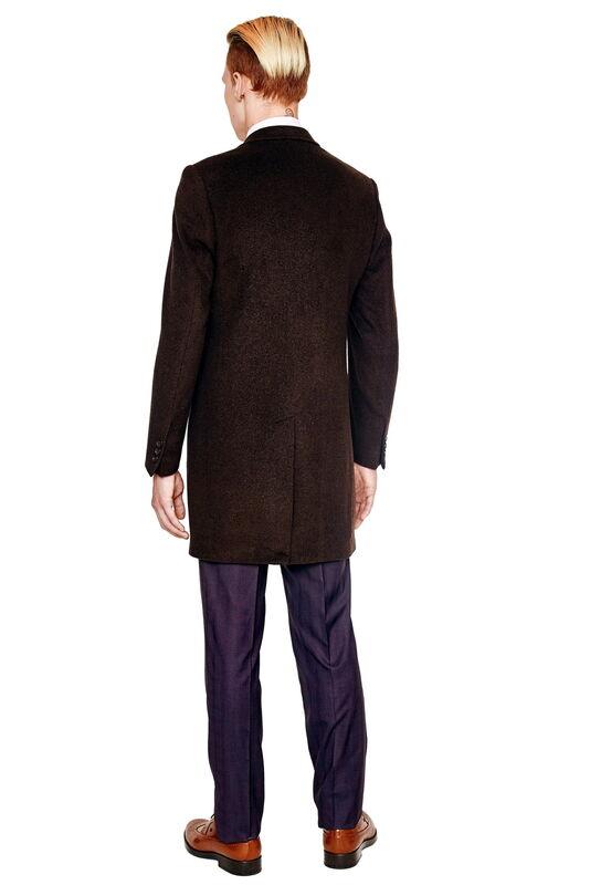 Верхняя одежда мужская HISTORIA Пальто мужское коричневое H01 - фото 2