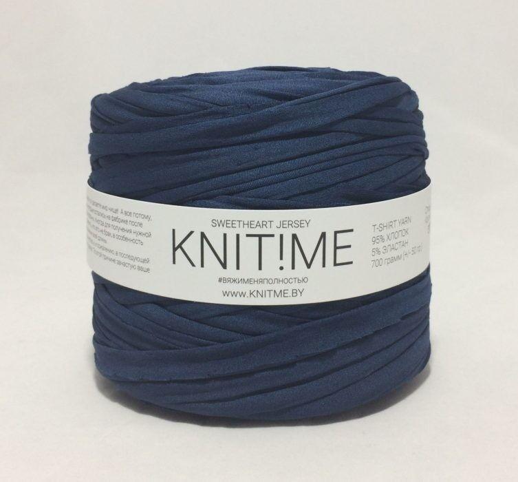 Товар для рукоделия Knit!Me Ленточная пряжа Sweetheart Jersey - Звездный синий (SJ253) - фото 1