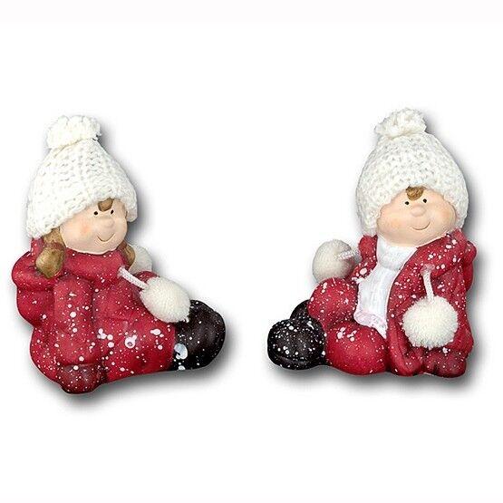 Подарок на Новый год mb déco Статуэтка новогодняя «Ребенок в шапке» 61234/AMS в ассортименте - фото 1