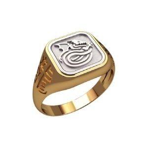 Ювелирный салон jstudio Печатка золотая с узором 30221 - фото 1