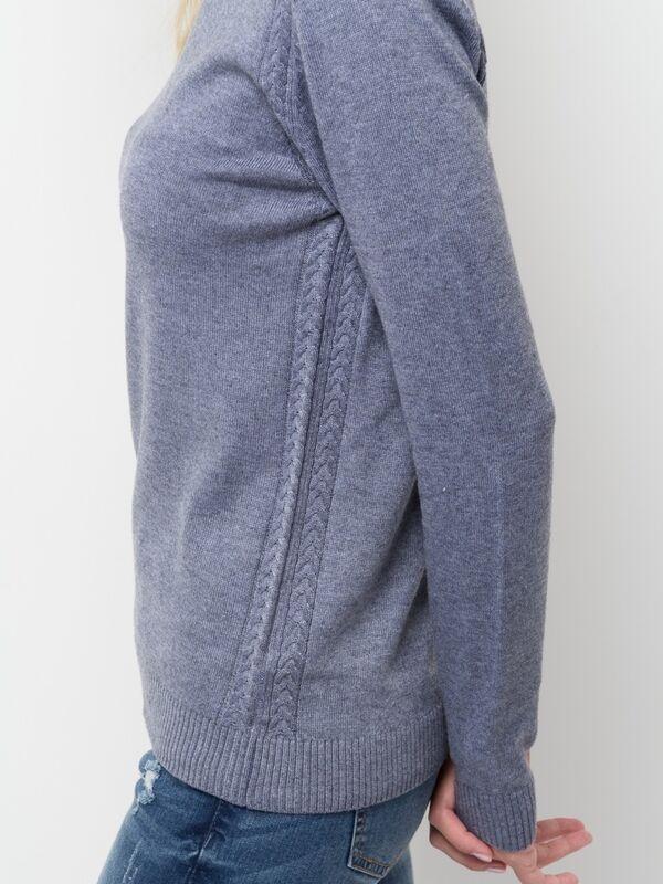 Кофта, блузка, футболка женская Sela Джемпер женский JR-114/2044-7442 голубой - фото 2