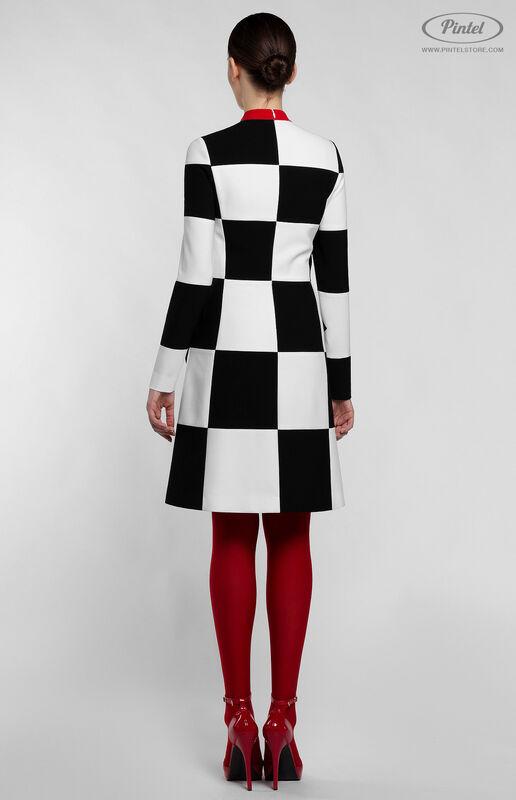 Платье женское Pintel™ Приталенное оп-арт мини-платье TAMÖNIC - фото 4