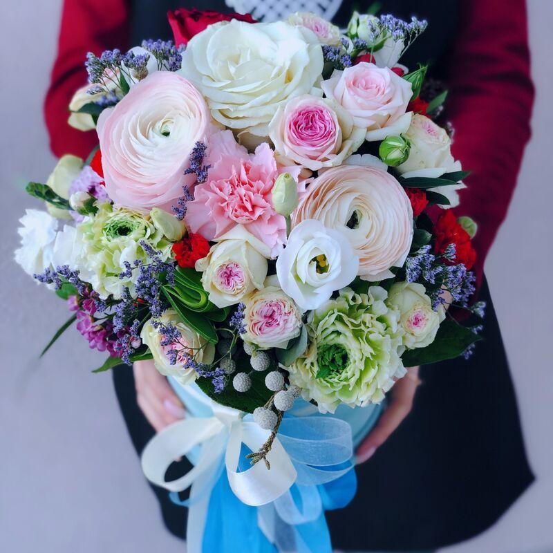 Магазин цветов Кошык кветак Коробочка классическая №4 - фото 1