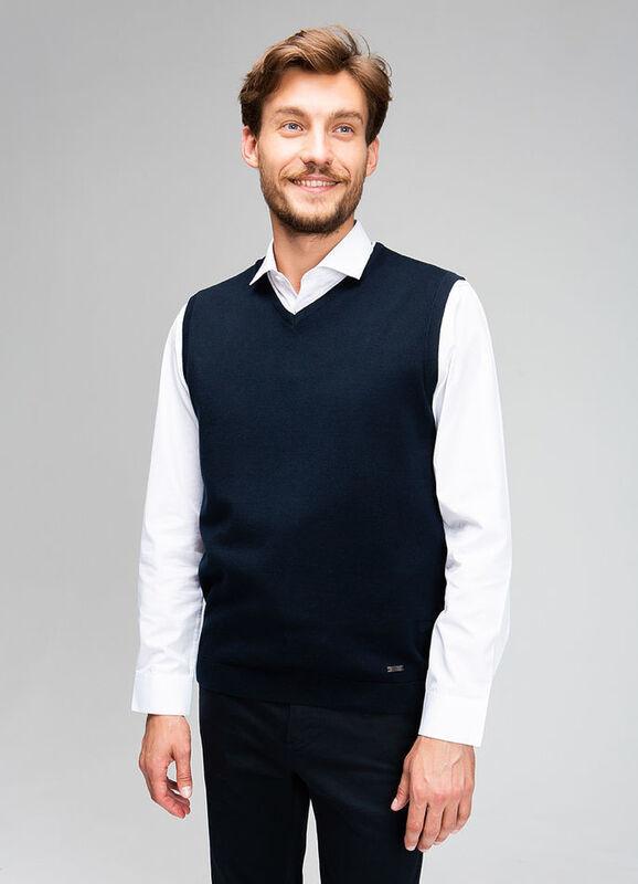 Пиджак, жакет, жилетка мужские O'stin Базовый мужской жилет MK6V43-69 - фото 1