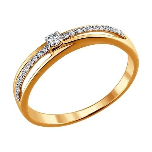 Ювелирный салон Sokolov Кольцо из золота с бриллиантами 1011320 - фото 1