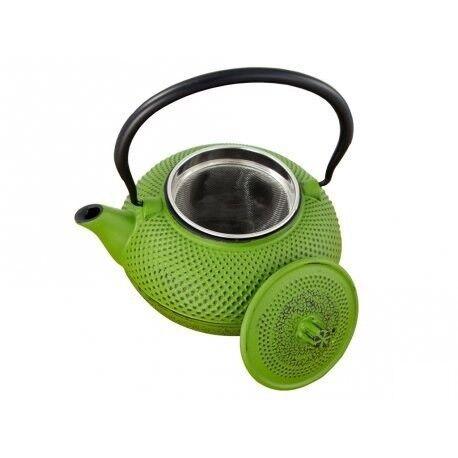 Подарок HIT Чайник заварочный с ситечком, 1.5 л чугунный зеленый, 22170650 - фото 1