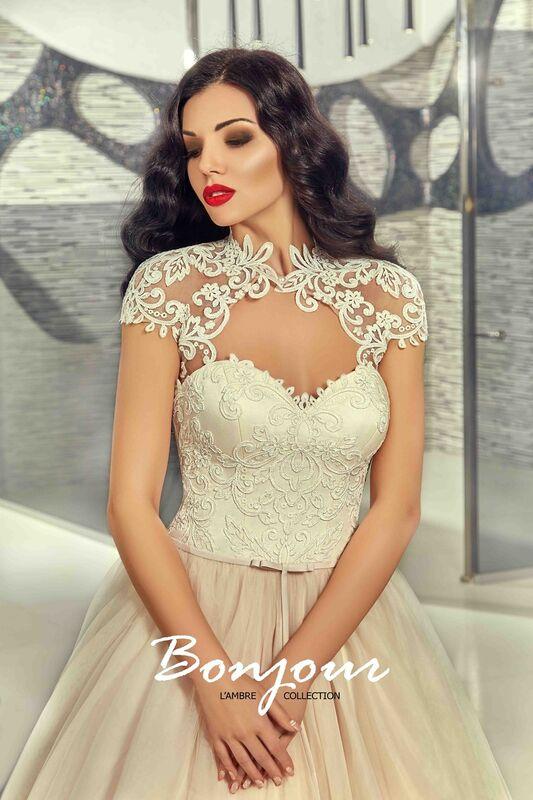 Свадебное платье напрокат Bonjour Платье свадебное «Demi» из коллекции LAMBRE 2017 - фото 5