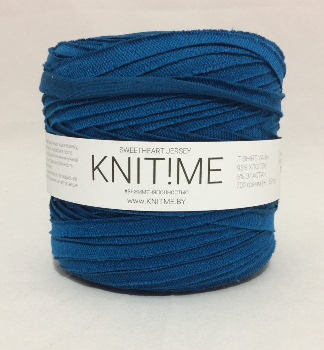 Товар для рукоделия Knit!Me Ленточная пряжа Sweetheart Jersey - Глубокое озеро (SJ472) - фото 1