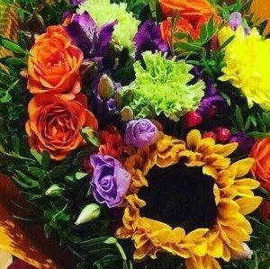 Магазин цветов Прекрасная садовница Букет осенний с подсолнухом - фото 1