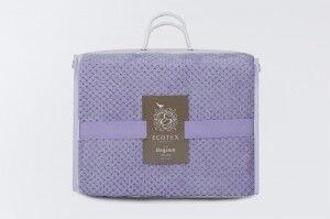 Подарок Ecotex Декоративный флисовый плед 150х200 Elegance Лавандовый - фото 4