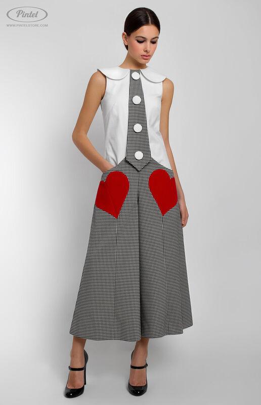 Брюки женские Pintel™ Комбинированный приталенный комбинезон без рукавов Mais - фото 1