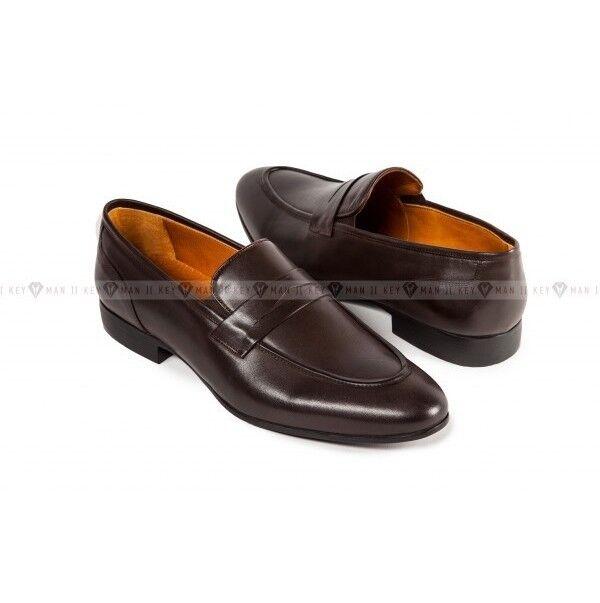 Обувь мужская Keyman Туфли мужские лоферы коричневые классические - фото 1