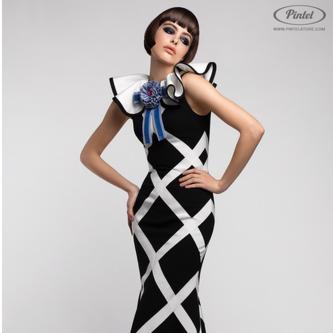 Платье женское Pintel™ Облегающее платье в пол без рукавов Konsta - фото 1