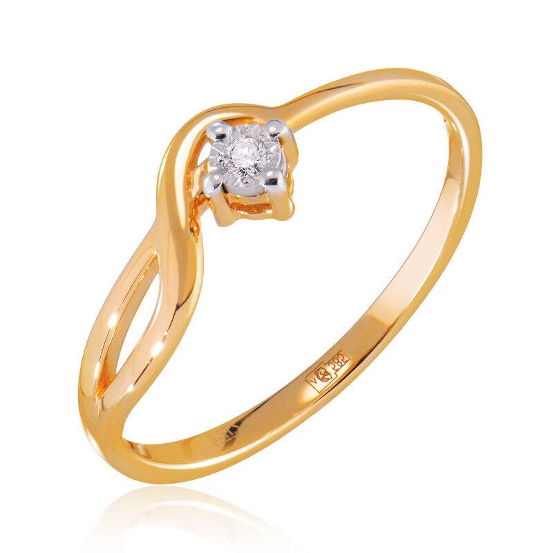 Ювелирный салон Jeweller Karat Кольцо золотое с бриллиантами арт. 3212444/9 - фото 1