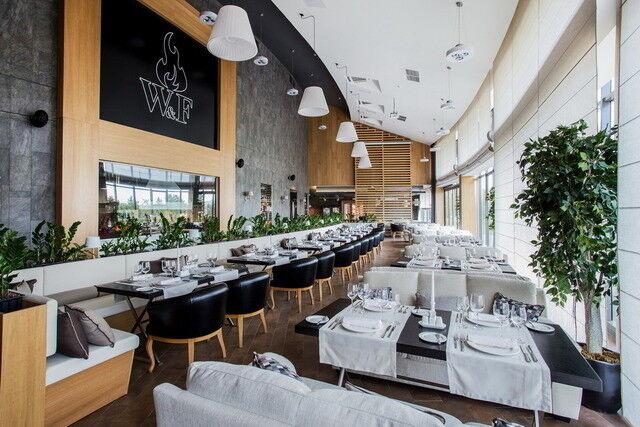Ресторан и кафе на Новый год Wood & Fire Общий зал - фото 5