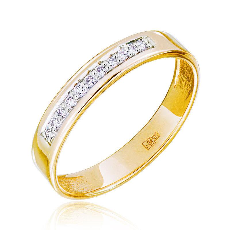Ювелирный салон Jeweller Karat Кольцо обручальное с бриллиантами арт. 1213767 - фото 1