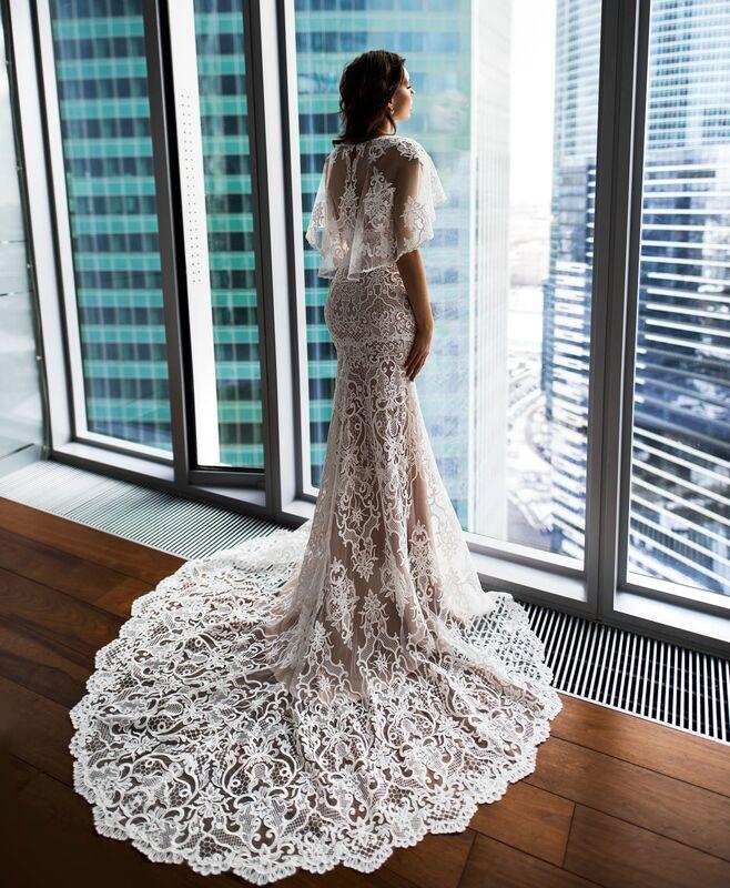 Свадебное платье напрокат Natalia Romanova Свадебное платье  Diar - фото 3