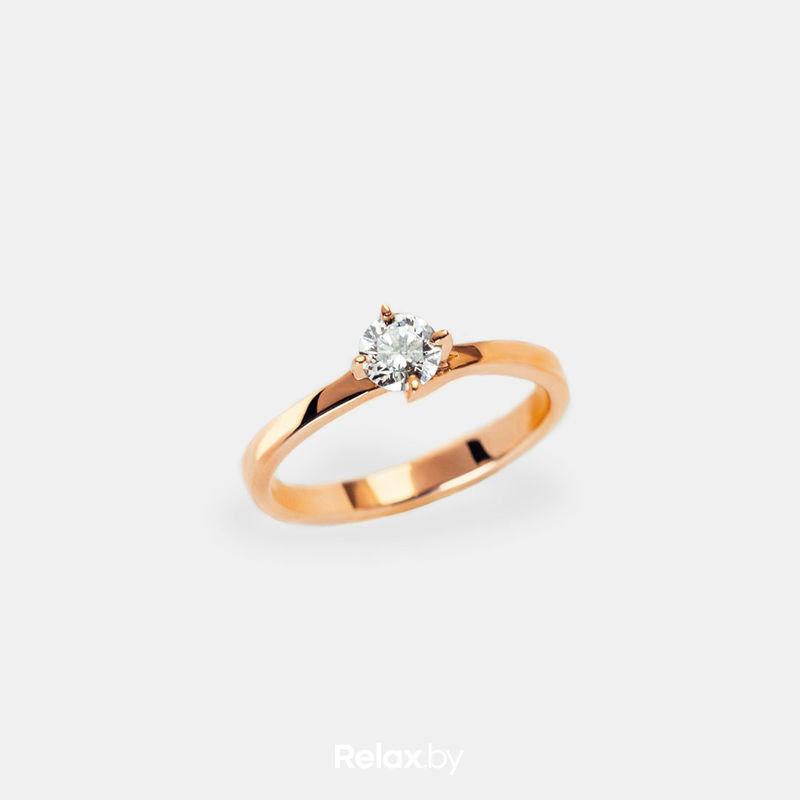 Ювелирный салон Белорусские Бриллианты Кольцо из золота со вставкой бриллиант синт. 21010028 - фото 1