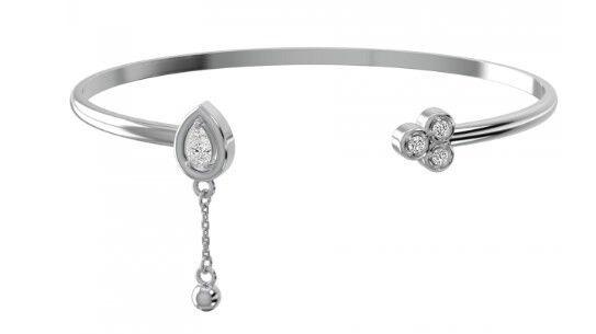 Ювелирный салон ZORKA Браслет жесткий из серебра 0640026 - фото 1