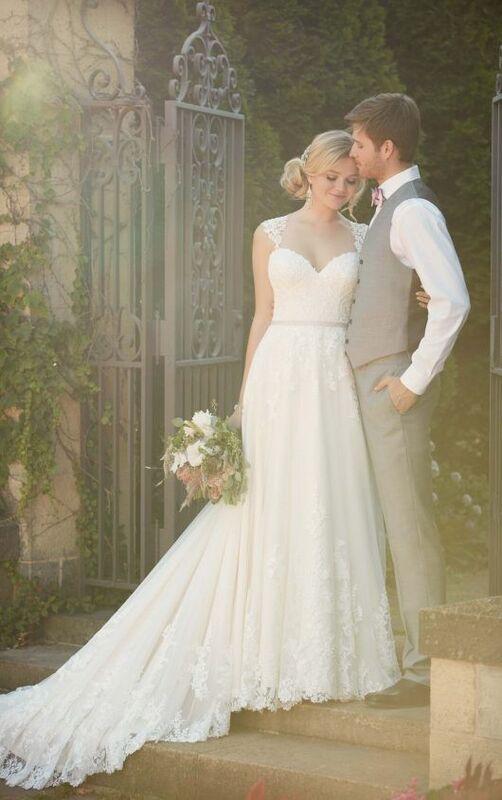 Свадебное платье напрокат Essense of Australia Платье свадебное D1999 - фото 3