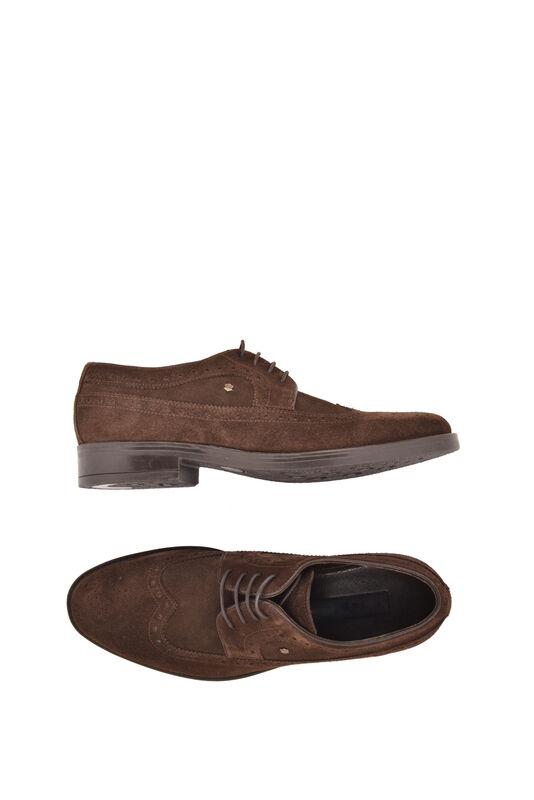 Обувь мужская HISTORIA Туфли дерби броги темно-коричневые замшевые Sh.Br.71798 - фото 3