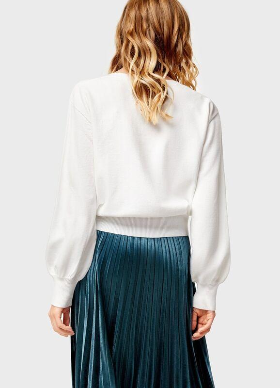 Кофта, блузка, футболка женская O'stin Укороченный джемпер LK4U12-02 - фото 2