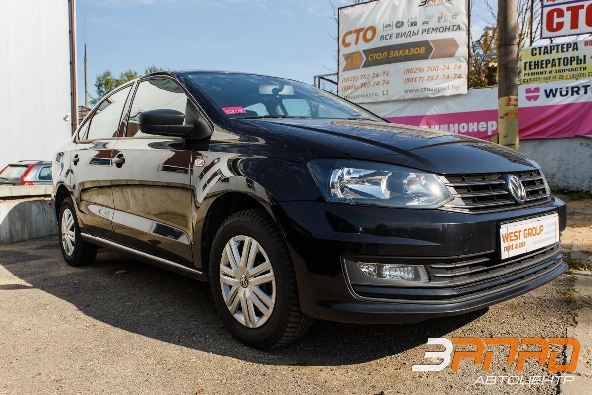 Аренда авто Volkswagen Polo Sedan 2016 серый - фото 1