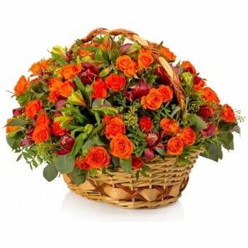 Магазин цветов Ветка сакуры Композиция Корзина № 49 - фото 1