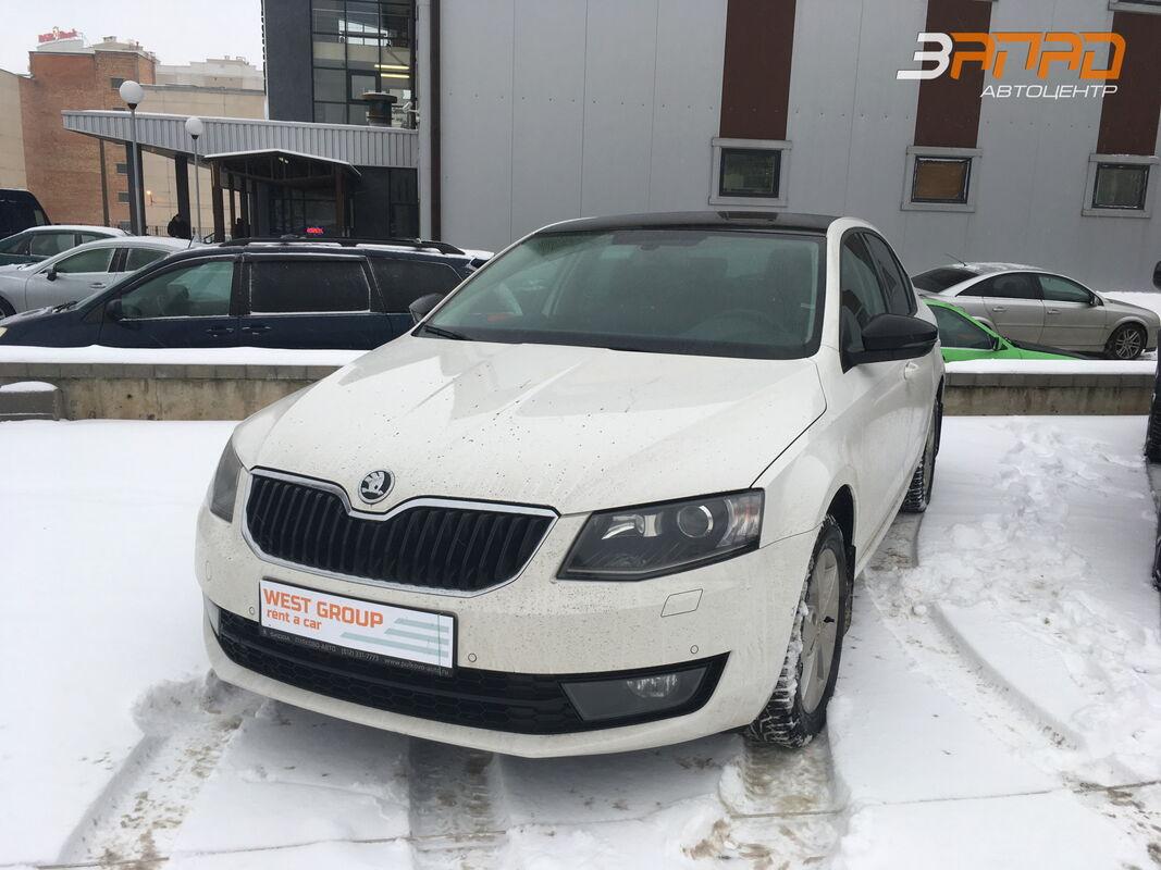 Аренда авто SKODA Octavia белая 2015 - фото 1